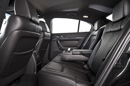 The back seats of a chauffeured Lincoln MKS from Commonwealth Worldwide.