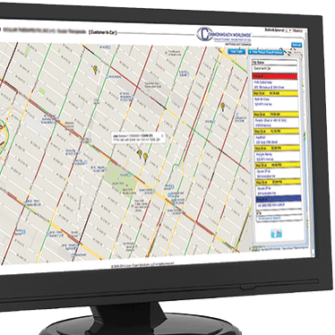 RezTracker GPS software on a computer monitor.